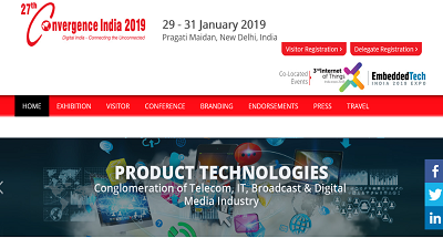 27th Convergence India 2019